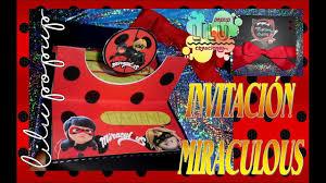 Tutorial Invitacion Para Fiesta Infantil Miraculous Ladybug