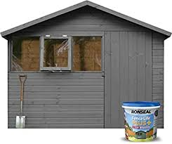 Ronseal 9l Fence Life Plus Garden Shed Fence Paint Uv Potection All Colours 9l Charcoal Grey Amazon Co Uk Diy Tools