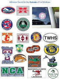 Adhesive Window Stickers Window Stickers Schoolpride