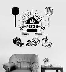 Vinyl Wall Decal Pizza Italian Restaurant Cooking Stickers Mural Ig4075 Ebay