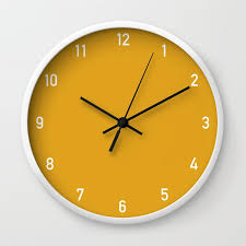 numbers clock mustard wall clock by