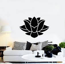 Vinyl Wall Decal Abstract Lotus Flower Buddhism Yoga Meditate Decor St Wallstickers4you