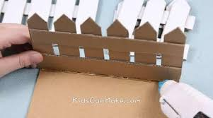 Easy Recycled Cardboard Turned Into Fence Flowerpot Kids Can Make