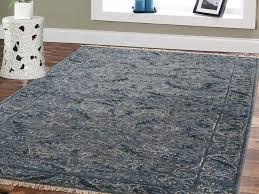 silk blue cast oriental runner rug