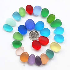 pieces top drilled sea glass beads