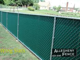 Pittsburgh Residential Chain Link Fence Screen Slats Allegheny Fence
