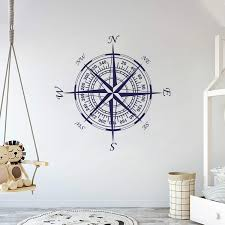 Amazon Com Compass Wall Decal Nautical Decor Vinyl Wall Decal For Home Bedroom Loft Am Wide 22 X 22 Height Baby