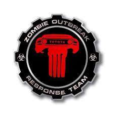 Product Pair Zombie Outbreak Response Team Toyota Fj Cruiser Side Vinyl Stickers Decals