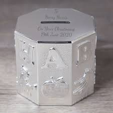 money box for boy baby christening
