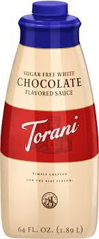 sugar free white chocolate sauce