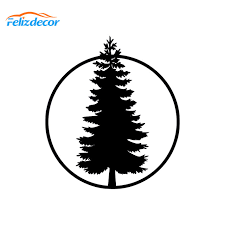 10 11cm White Pine Tree Decal Car Window Decals Art Laptop Stickers Removable Vinyl Natural Pattern Strong Self Adhesive L853 Car Stickers Aliexpress