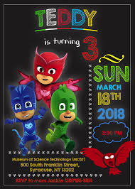 Pj Masks Birthday Invitation Plantillas Para Invitacion De