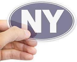 Amazon Com Cafepress Ny New York Oval Bumper Sticker Euro Oval Car Decal Home Kitchen