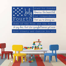 Amazon Com Patriotic Decals Usa Wall Decal Fourth Of July American Flag Wall Art With Quote Patriotic Wall Art For The Home Office Or School Handmade