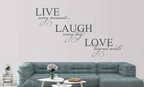 Amazon Com Live Laugh Love Wall Decal Love Vinyl Wall Decal Family Wall Quotes Living Room Decor Made In Usa Big Size Home Kitchen