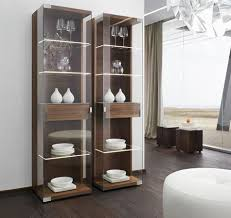 wood and glass nox display cabinets