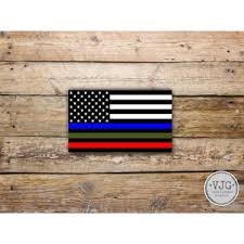 Police Military And Fire Thin Line Usa Flag Decal American Etsy