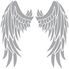 Angel Wings Vinyl Sticker Decal 6 X 6 Silver Click Image To Review More Details This Is An Affiliate Link Vinyl Sticker Wall Stickers Murals Vinyl