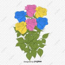 لون الورد ورد وردي وردة حمراء الزهور Png وملف Psd للتحميل مجانا
