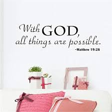 Religious Wall Quote Letters With God All Things Are Possible Diy Art Carved Wall Sticker Home Wall Decor Price In Uae Amazon Uae Kanbkam