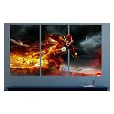 Amazon Com The Flash Smashed 3d Wall Decal Mural Art Kids Boy Smash Home Decor Removable Sticker Vinyl Large 30 W X 16 H Home Kitchen