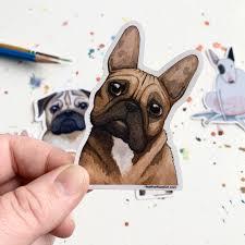 French Bulldog Dog Vinyl Stickers 3 Inch Doggos Sticker Free Shippi Heather Kent Art