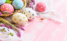 تحميل خلفيات بيض عيد الفصح الخلفية الوردي الربيع عيد الفصح