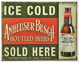 ice cold anheuser busch beer sold here