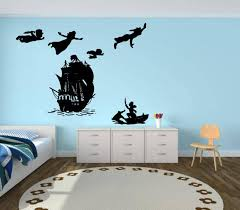 Wall Decal Peter Pan Cartoon Ship Pirates Hook Sticker Bedroom Etsy