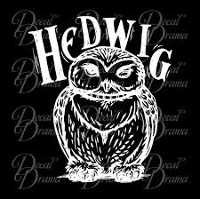 Hedwig The Owl Harry Potter Inspired Fan Art Vinyl Decal Decal Drama