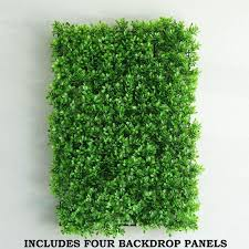 4 Pack 11 Sq Ft Artificial Boxwood Hedge Faux Foliage Genlisea Green Chaircoverfactory