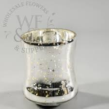 champagne silver mercury glass candle