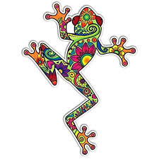 Amazon Com Tree Frog Sticker Colorful Decal By Megan J Designs Laptop Window Car Vinyl Sticker Automotive