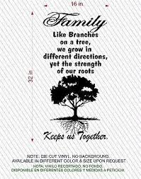Tree Wall Decal Wall Art Family Roots Keep Us Together 16 W X 32 Jeyfel