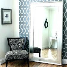 large black framed mirror