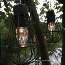 solar vintage cage garden led light