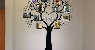 Extra Large Family Tree Wall Decal With Picture Frames Stickers Vinyl Art Photo India Vamosrayos