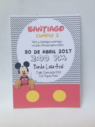 Invitaciones Economicas Mickey Mouse 60 00 En Mercado Libre