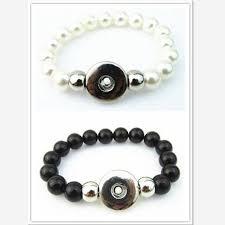 black imitation pearl beads