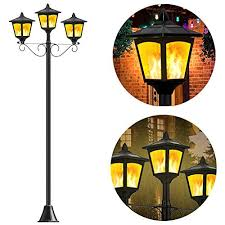 lights outdoor decorative 3 light lamp