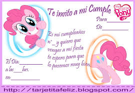 Invitacion My Little Pony Tarjetas De Cumpleanos Para Imprimir