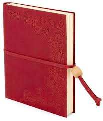 fl embossed red leather lined