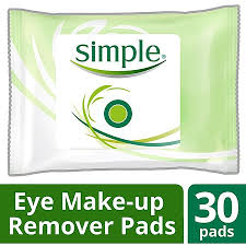 simple simple eye makeup remover pads