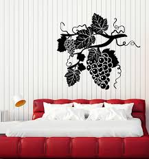 Vinyl Wall Decal Grape Branch Vine Berries Alcohol Winery Stickers Mur Wallstickers4you