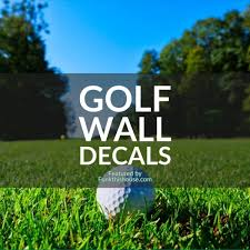 Golf Wall Decals Including Artistic Golf Views And Golf Quotes
