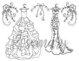 Kleurplaat Pagina Downloaden Bruiloft Bridal Volwassen Etsy