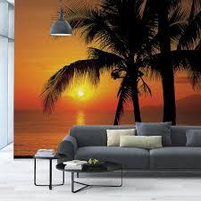 Komar 100 In X 145 In Palmy Beach Sunrise Wall Mural 8 255 The Home Depot
