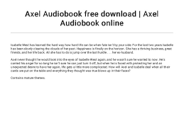 Axel Audiobook free download | Axel Audiobook online