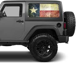 Amazon Com 2x 17 X 39 Universal Texas State Flag Window Tint Perforated Vinyl Fits Jeep 2 Door 4 Door Hard Tops Automotive