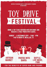 toy drive festival explore mcallen